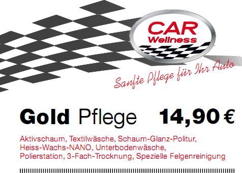preisschild Gold 05-14 Car Wellness Ingolstadt